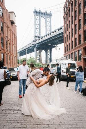 Dumbo Manhattan Bridge Wedding Photo