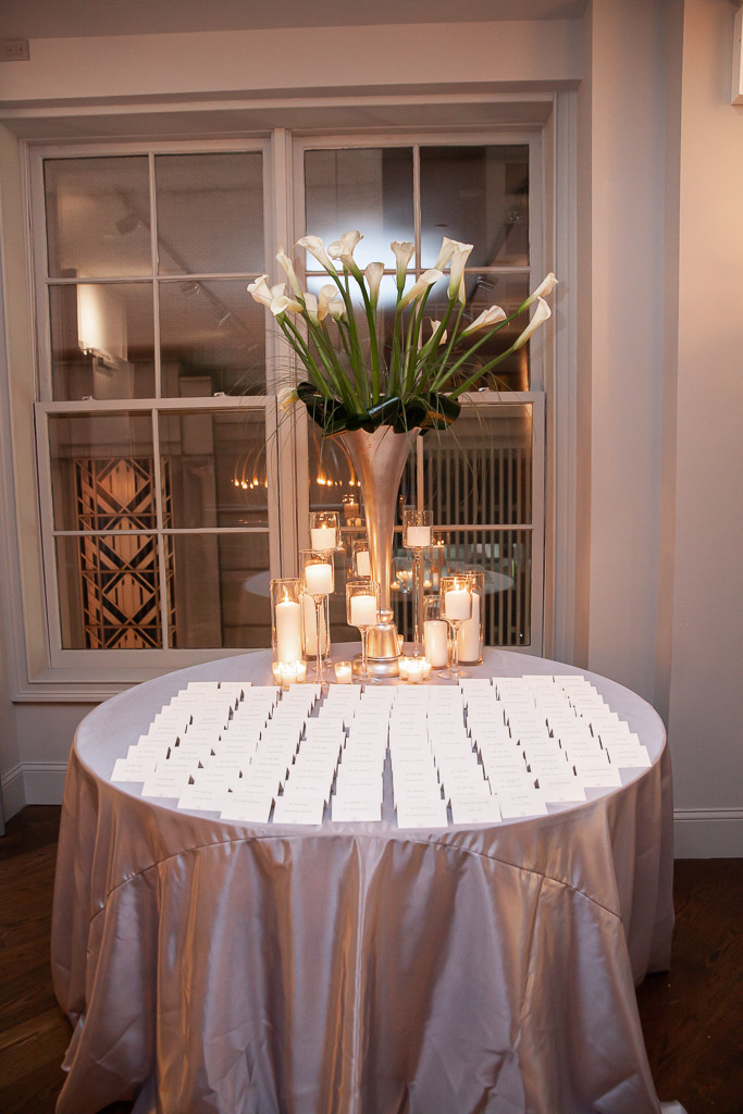 Elegant New York Wedding Escort Card Table