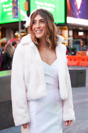 Faux Fur Wedding Jacket