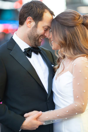Romantic Times Square New York Wedding Portraits