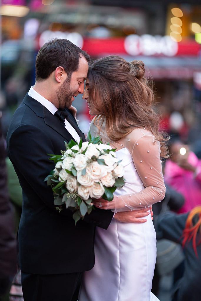 Sweet Times Square Wedding Photo