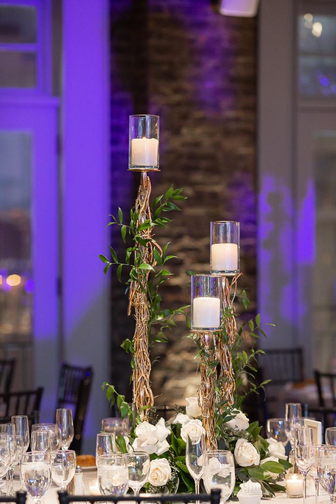 Tall Candle Wedding Reception Centerpiece