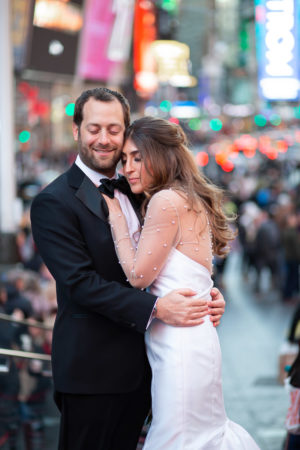 Times Square Wedding Photos