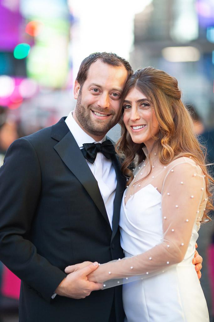 Times Square Wedding Portrait