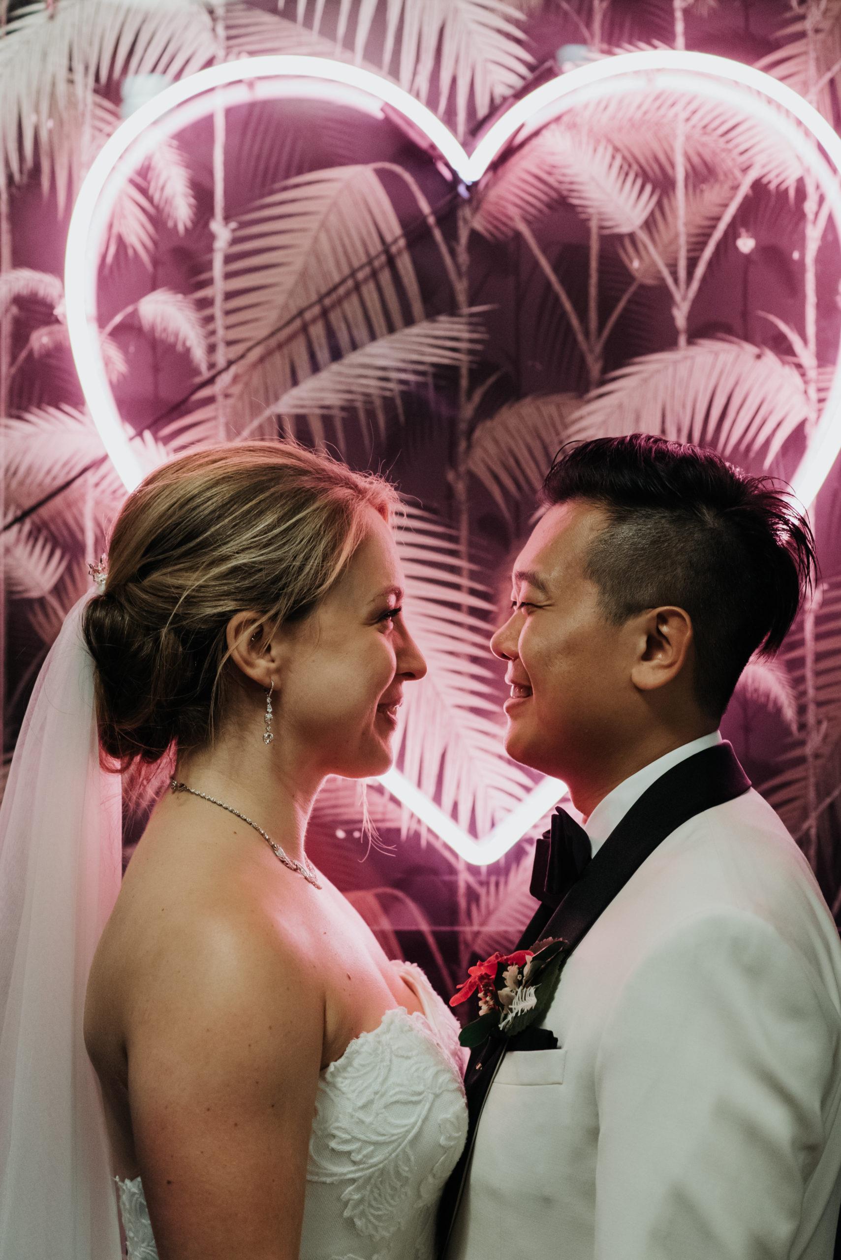 Stylish Tropical-Inspired Wedding in Brooklyn 23