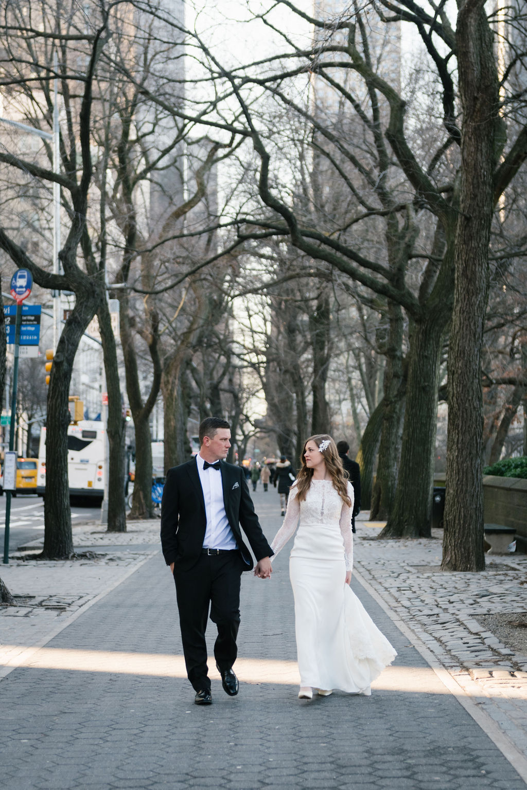 Christmastime Elopement in Central Park 5