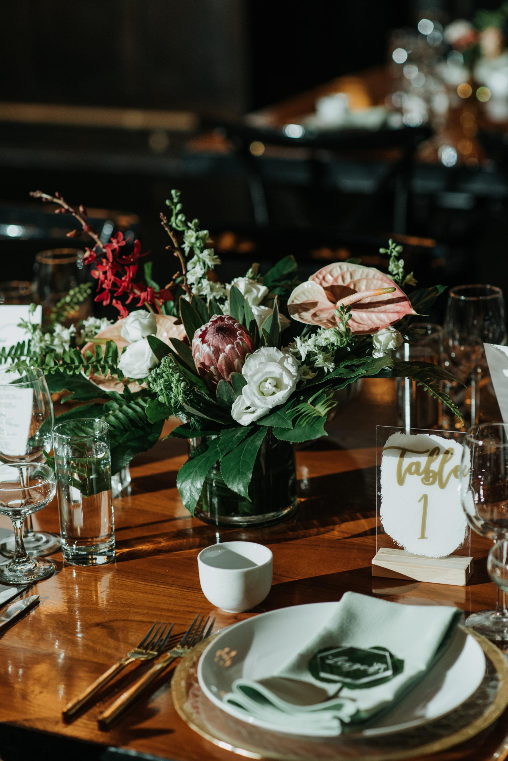 Stylish Tropical-Inspired Wedding in Brooklyn 17