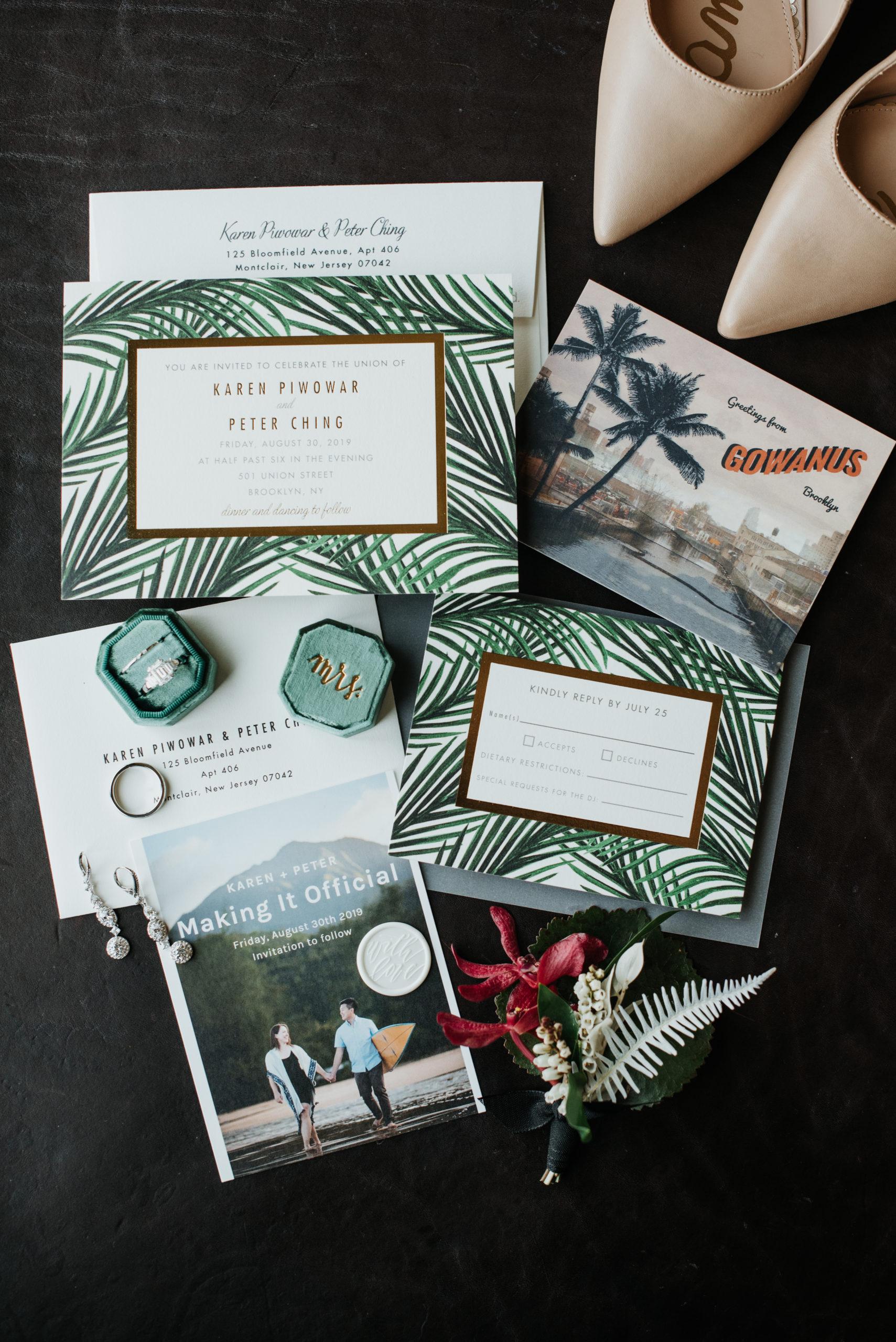 Stylish Tropical-Inspired Wedding in Brooklyn 3